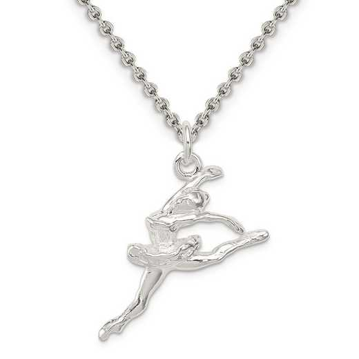 QC802-QCL050-18: Sterling Silver Ballerina Charm