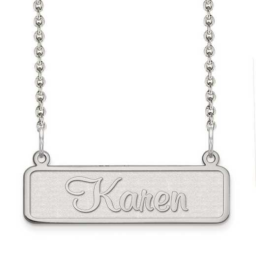 XNA82SS: Sterling Silver Rhodium-plated name plate