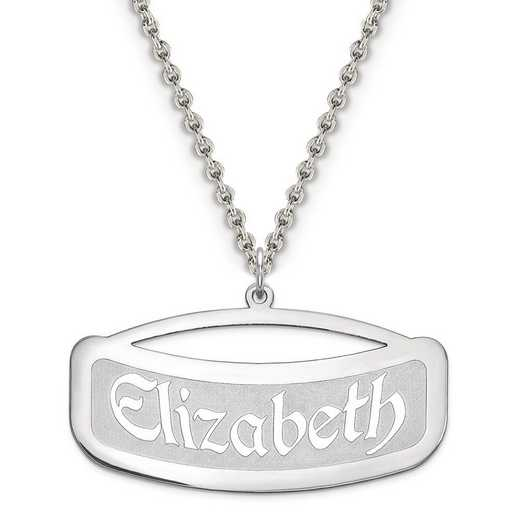 XNA87SS: Sterling Silver Rhodium-plated name plate