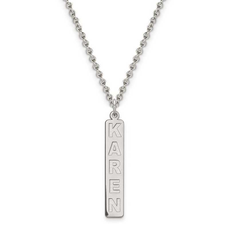 XNA98SS: Sterling Silver Rhodium-plated name plate