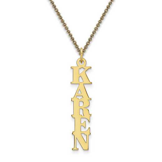 10XNA100Y: 10 Karat Yellow Gold Cut-out Letters Name Plate