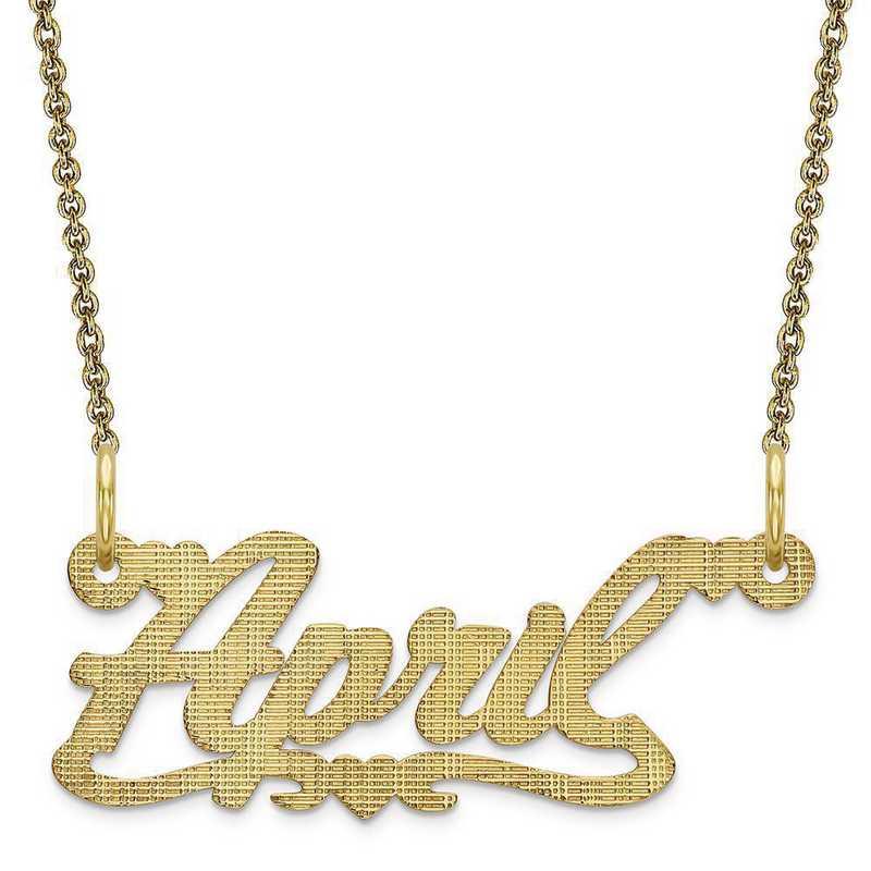 10XNA337Y: 10 Karat Yellow Gold .013 Gauge Satin Name Plate Pendant