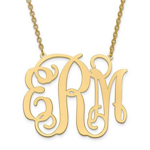 10XNA502Y: 10ky L arge POLISHED CUTOUT MONOGRAM