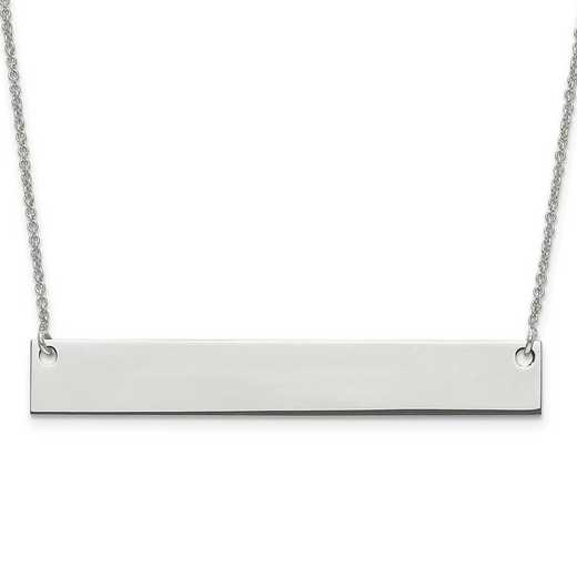 10XNA639W: 10 Karat White Gold Large Polished Blank Bar with Chain