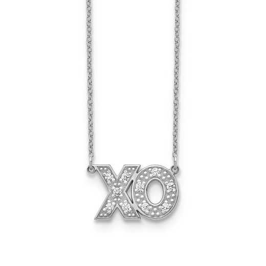 10XNA819/2WAA: 10KW 2 Letter Diamond Necklace