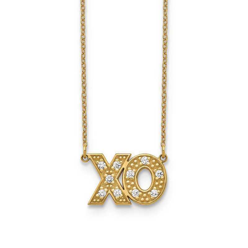 10XNA819/2YAA: 10KY 2 Letter Diamond Necklace