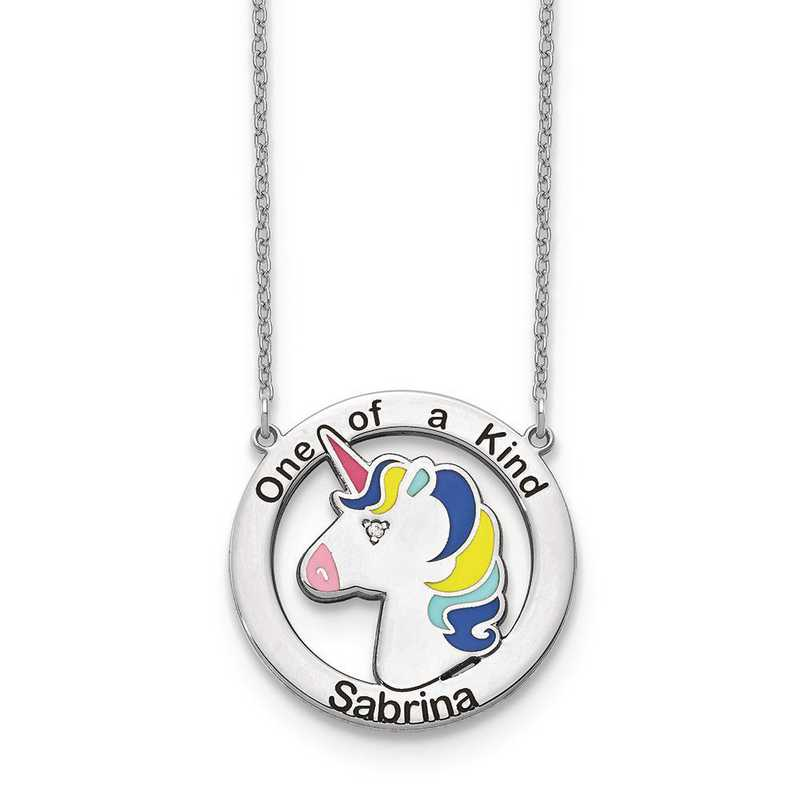10XNA861WAA: 10kw One of a Kind Personalized Unicorn Neckl with Diamond