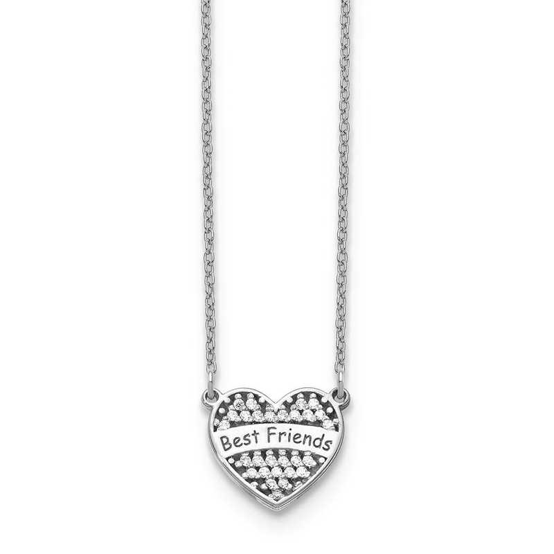 10XNA887W: 10kw Small Personalized Diamond Heart Necklace