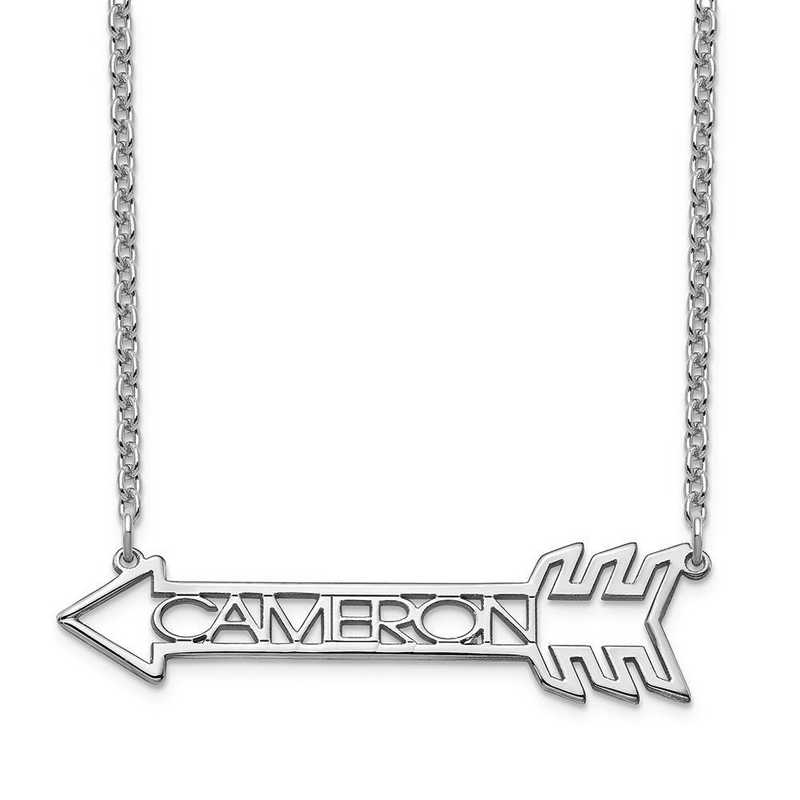 10XNA930W: 10 Karat White Gold Name Arrow Necklace