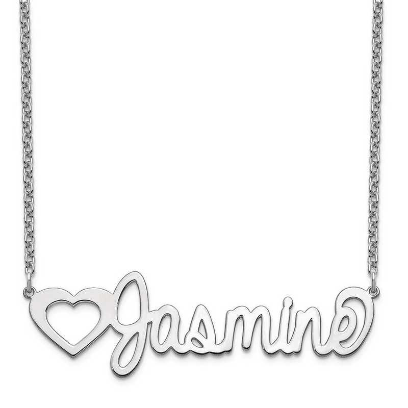 XNA1051SS: Sterling Silver Customized Name Plate Necklace