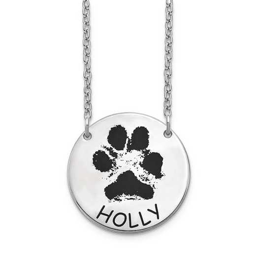 XNA1079SS: Sterling Silver Small Paw Necklace