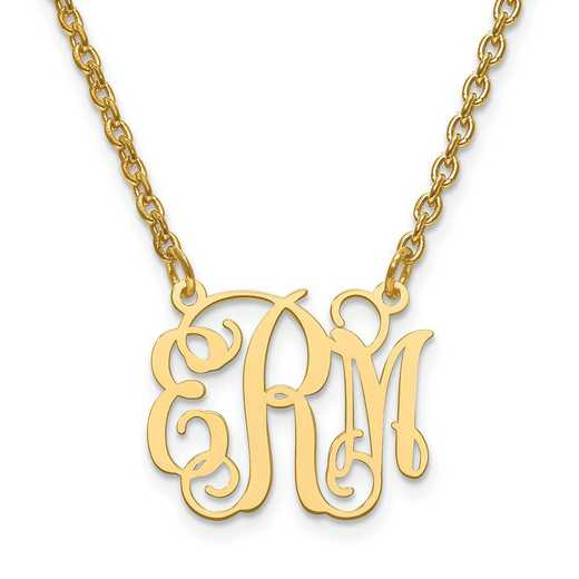 XNA528GP: Gold Plated/SS Laser High Polished Monogram Plate
