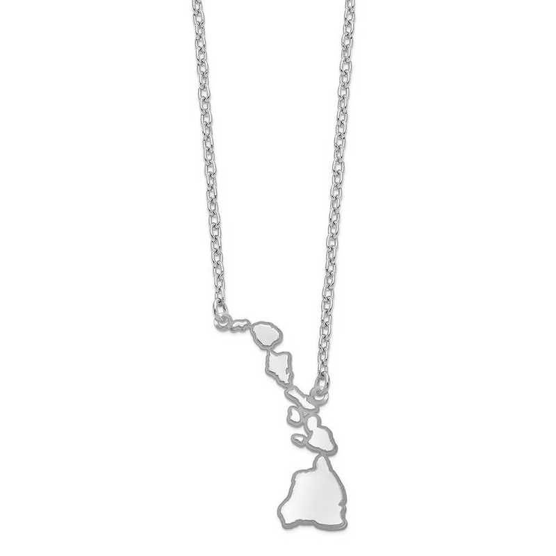 XNA706W-HI: 14k White Gold HI State Pendant with chain