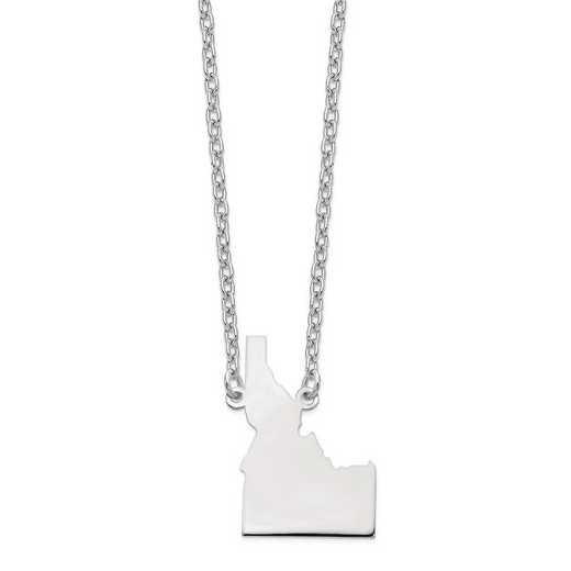 XNA706W-ID: 14k White Gold ID State Pendant with chain