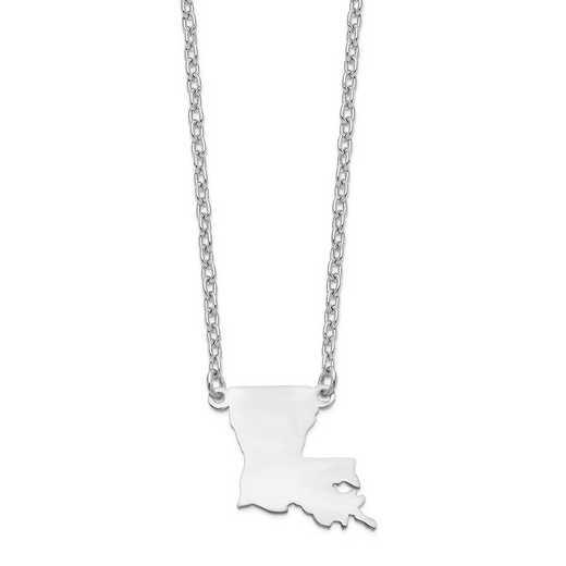 XNA706W-LA: 14k White Gold LA State Pendant with chain