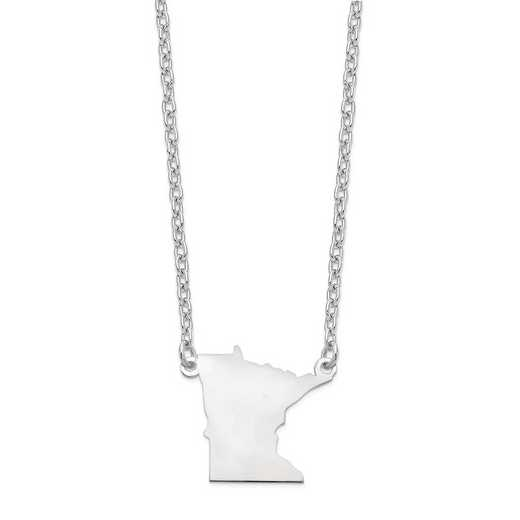 XNA706W-MN: 14k White Gold MN State Pendant with chain