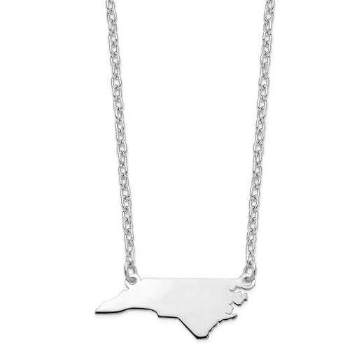 XNA706W-NC: 14k White Gold NC State Pendant with chain