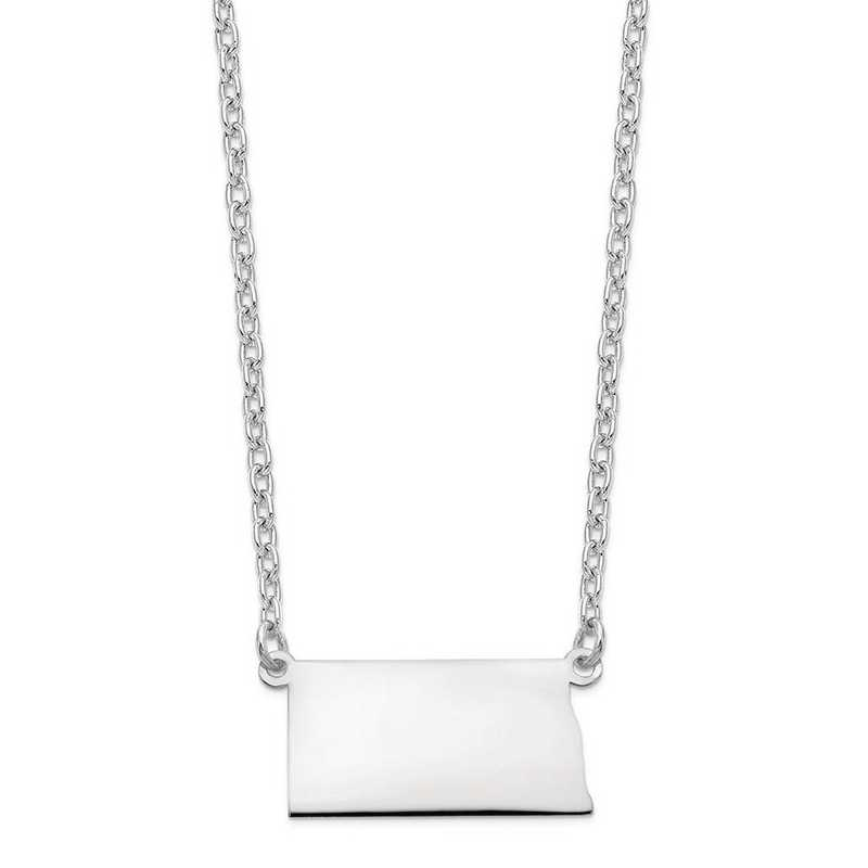XNA706W-ND: 14k White Gold ND State Pendant with chain
