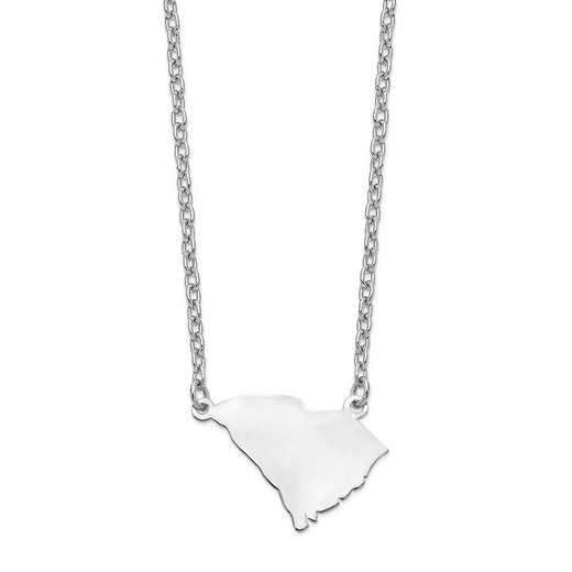 XNA706W-SC: 14k White Gold SC State Pendant with chain