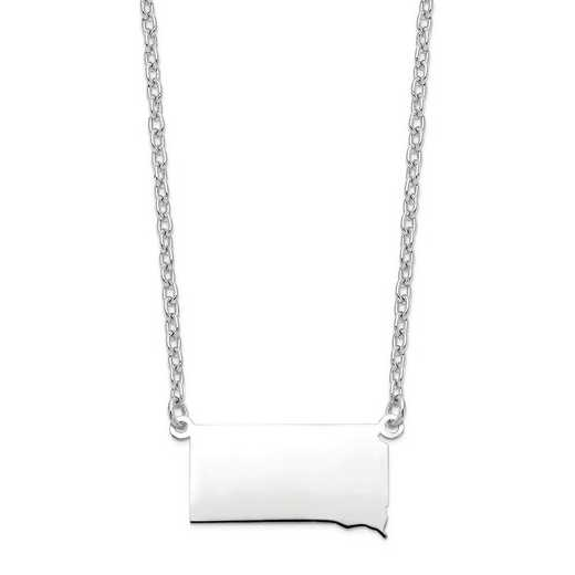 XNA706W-SD: 14k White Gold SD State Pendant with chain
