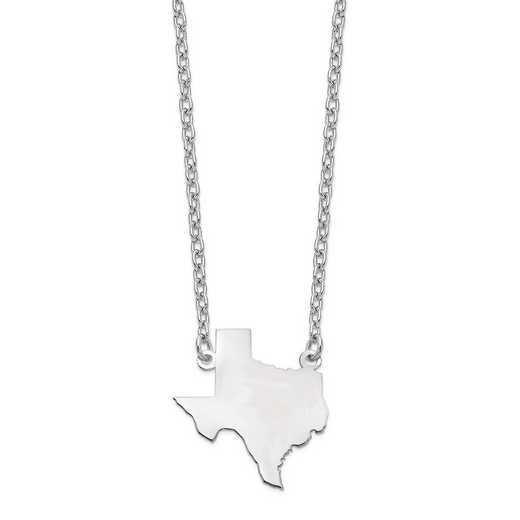 XNA706W-TX: 14k White Gold TX State Pendant with chain