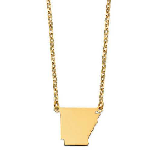 XNA706Y-AR: 14K Yellow Gold AR State Pendant with chain