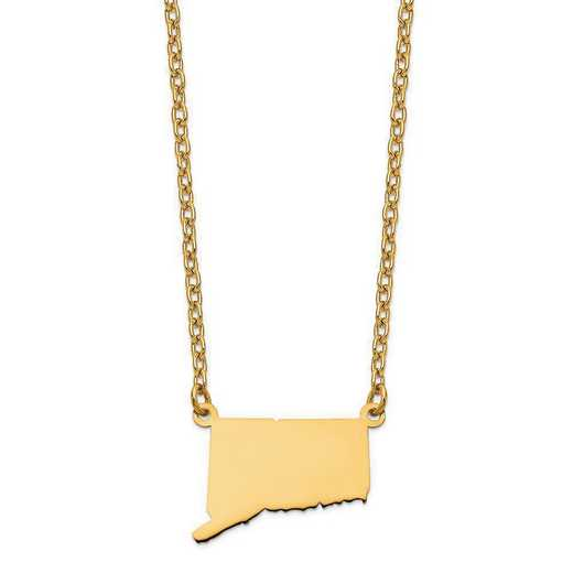 XNA706Y-CT: 14K Yellow Gold CT State Pendant with chain