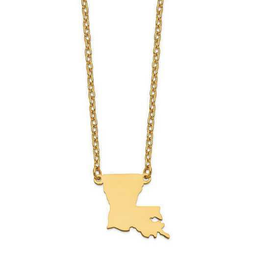 XNA706Y-LA: 14K Yellow Gold LA State Pendant with chain