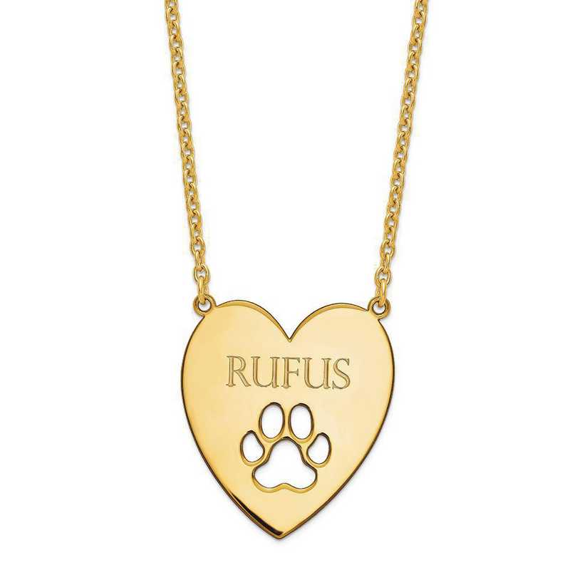 Sterling Silver And Gold Plated paw print Necklace