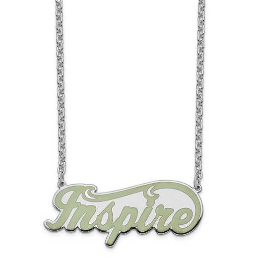 XNA829SSA: Sterling Silver Rhodium-Plated Epoxied Inspire Necklace