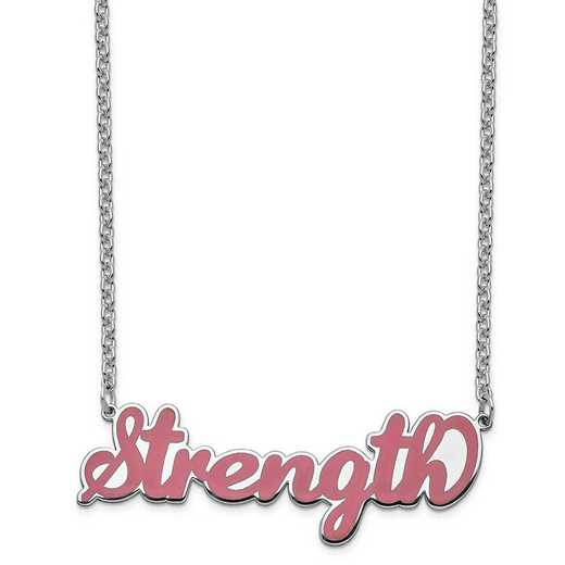 XNA830SSA: Sterling Silver Rhodium-Plated Epoxied Strength  Necklace