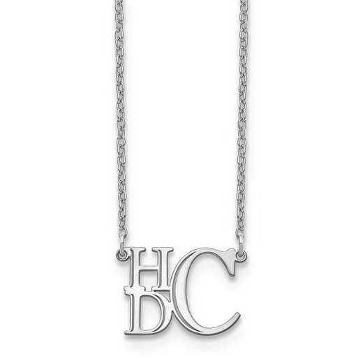 XNA884W: 14kw Semi Stacked Monogram Necklace