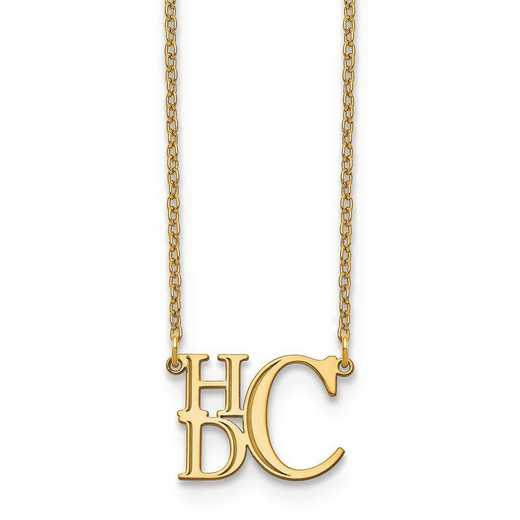 XNA884Y: 14ky Semi Stacked Monogram Necklace