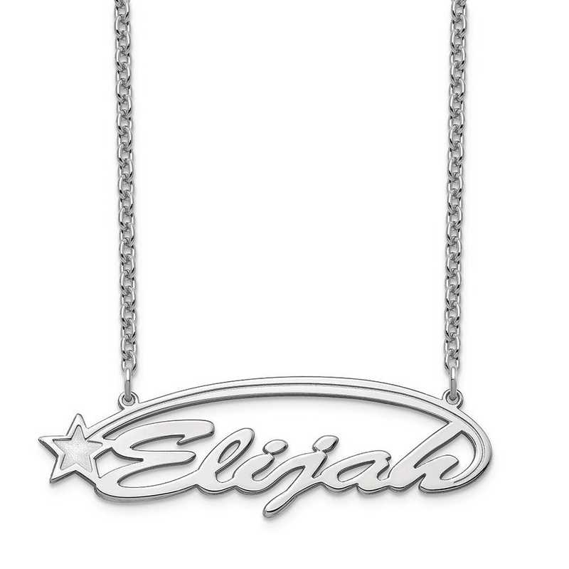 XNA934SS: Sterling Silver Shooting Star Nameplate