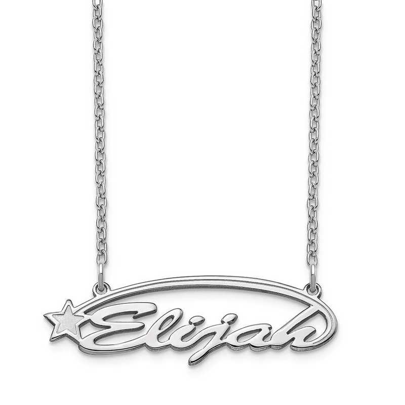 XNA935SS: Sterling Silver Shooting Star Nameplate