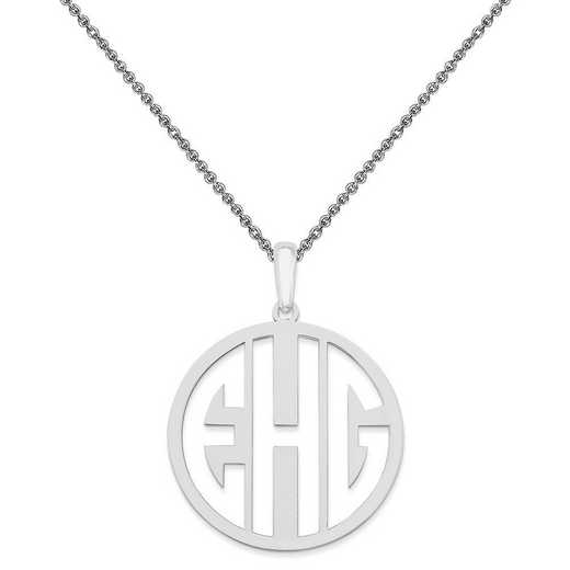 10XNA529W-10PE74-18: 10KW Laser High Polished Monogram Pendant