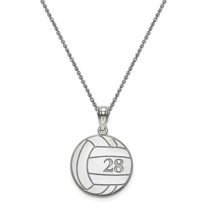 10XNA696W-10PE74-18: 10kw Laser Volleyball Number And Name Pendant
