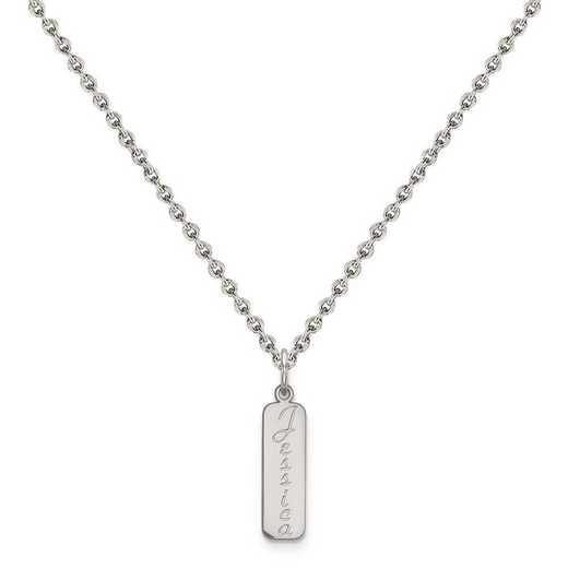 XNA110SS-QCL050R-18: Sterling Silver Rhodium-plated Name Plate