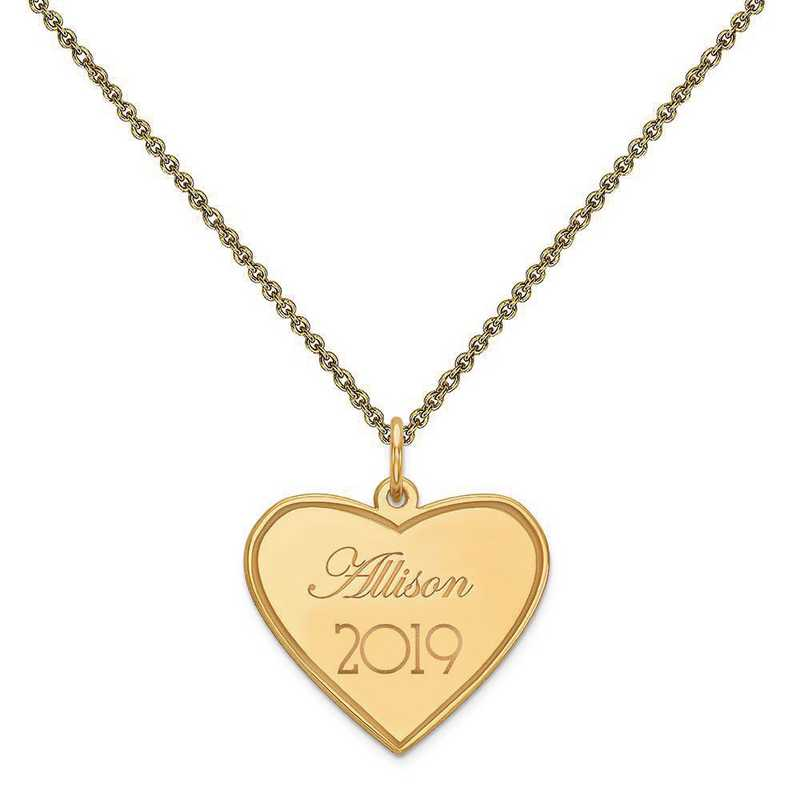 XNA369Y-PEN53-18: 14 Karat Yellow Gold Personalized Graduation Charm