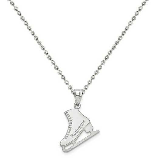 XNA705SS-QCL050R-18: SS Rhodium-plated Laser Polished Name Ice Skating Charm