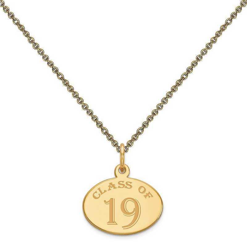 YC1309-PEN53-18: 14k Yellow Gold Oval 19 Charm