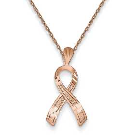 C9035RR-18: 14K RG Awareness Pendant Necklace