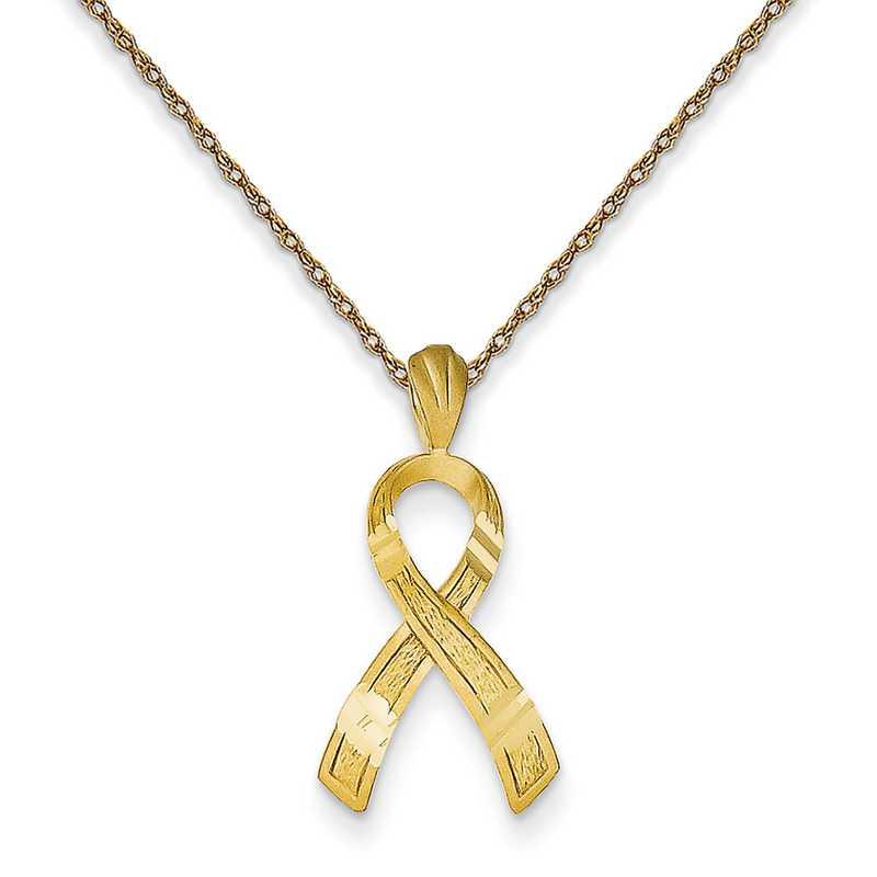 C9045RY-18: 14K YG Awareness Pendant Necklace