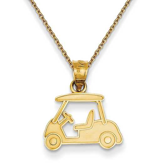 D3359/PEN136-18: 14k YG Golf Cart Charm
