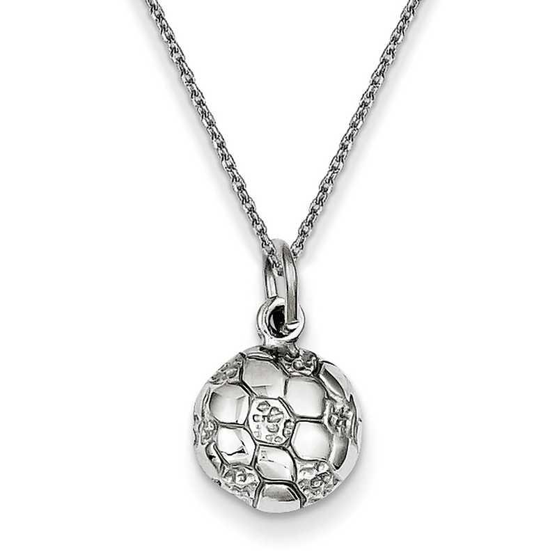 WCH130PEN145-18: 14k WG Soccer Ball Charm