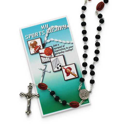 GM19744: Boys Black Football Sports Rosary