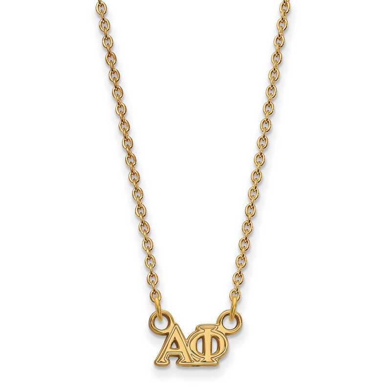 GP006APH-18: 925 YGFP Logoart APH Necklace