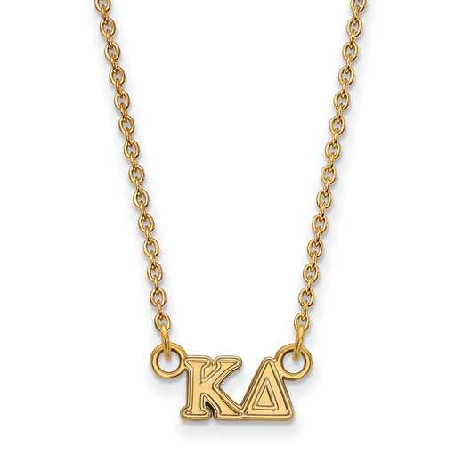 GP006KD-18: 925 YGFP Logoart KD Necklace