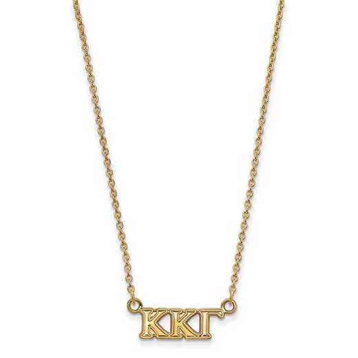 GP006KKG-18: 925 YGFP Logoart KKG Necklace