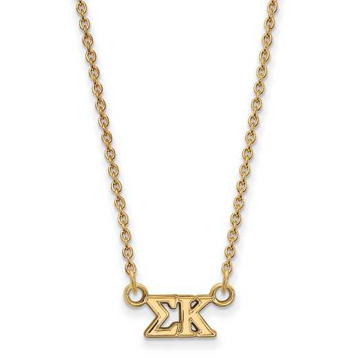 GP006SKP-18: 925 YGFP Logoart SP Necklace